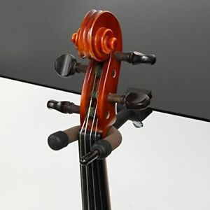 Black String Swing CC08 Violin Hanger with Bow Peg Attachment for Music Stand