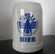 Steinkrug BSU Bier Brauerei Schmid Ustersbach Wappentier Kneipe Reklame Werbung