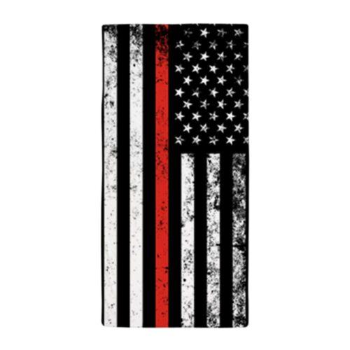 CafePress Firefighter Flag Beach Towel 37257078