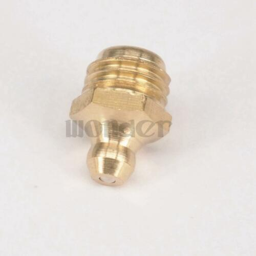 LOT 10 M12 x 1.5mm Metric male Brass Grease Zerk Nipple Fitting For grease gun
