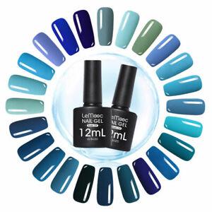 LEMOOC-12ml-Blue-Series-Nail-UV-Gel-Polish-Soak-Off-Nails-Gel-Polishes-UV-LAMP