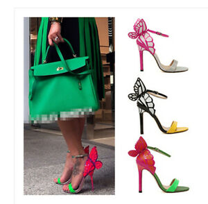Womens-Candy-Stilettos-High-Heel-Butterfly-Ankle-Strap-Party-Sandals-Shoes-Hot
