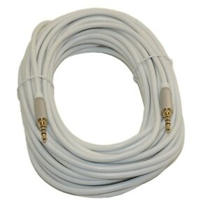 """Stereo 4-Pole TRRS Male to Female Cord Cable. 20 Ft DC Pro 3.5mm 1//8/"""""""