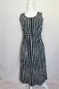 Liz-Lange-Maternity-Sleeveless-Striped-Dress-Women-039-s-Size-XL-Color-Black-White
