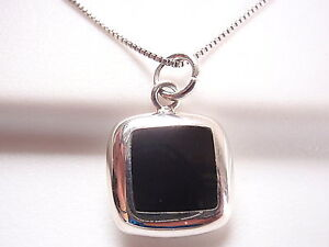 Reversible-Black-Onyx-Mother-of-Pearl-925-Sterling-Silver-Square-Necklace