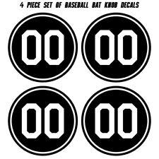 Baseball Bat Knob Decal Set - Custom Number Knob Sticker Set - Softball Decal
