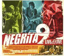 NEGRITA 9 LIVE&LIVE CD+DVD DIGIPACK NUOVO SIGILLATO !!