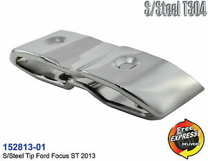 Auspuff endrohre Edelstahl verchromt abdeckung fur Ford Focus ST 152813-01