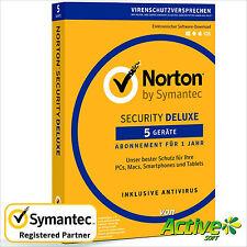 NORTON Security 2018 5 Geräte  PC,Mac,Android,iOS  Internet Security DE-Lizenz