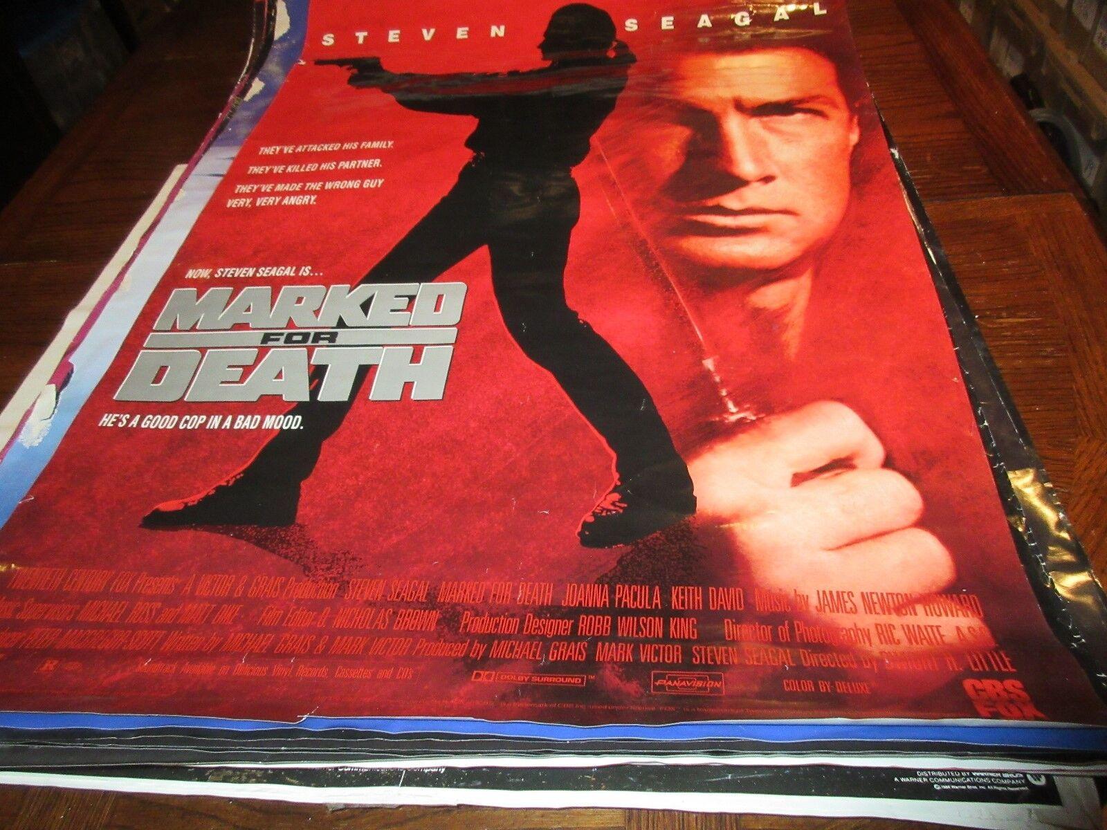 "Marked For Death , Steven Seagel , POSTER , 1991 , 26"""