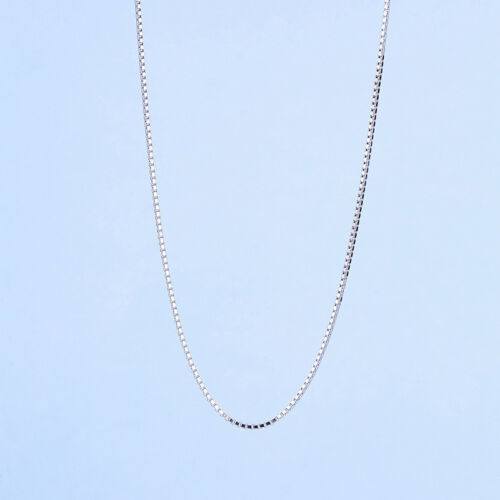 """Genuine Solid 925 Sterling Silver Trace Chain Necklace 16/""""18/""""20/""""22/""""24/"""" Inch Box"""