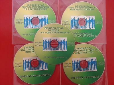 NEW! BIG BOOK OF AA 5 CDS ALCOHOLICS ANONYMOUS CD AUDIO DISC