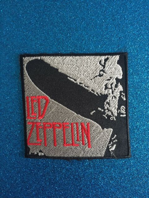 Led Zeppelin Silver Mothership Group Music Iron ON Sew Patch Clothing