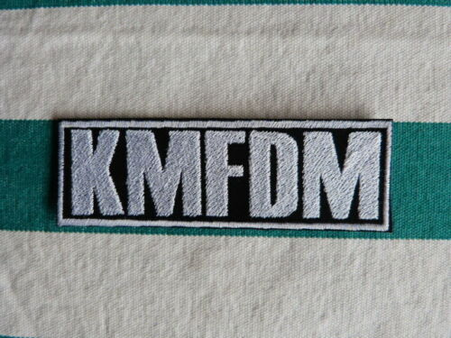 Iron on KMFDM band logo embroidered patch Ministry,Skinny Puppy free shipping