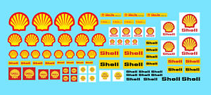 DECALCOMANIE DECALS 1:43 SHELL 1:32 1:24 decal motor oil gasoline racing car