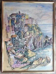GUNTER-JANNASCH-1925-1962-DDR-KUNSTLER-MANAROLA-HAFEN-RIO-MAGGIORE-ITALY