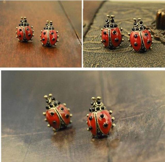 Earrings - Cute Little Ladybird Earrings for pierced ears