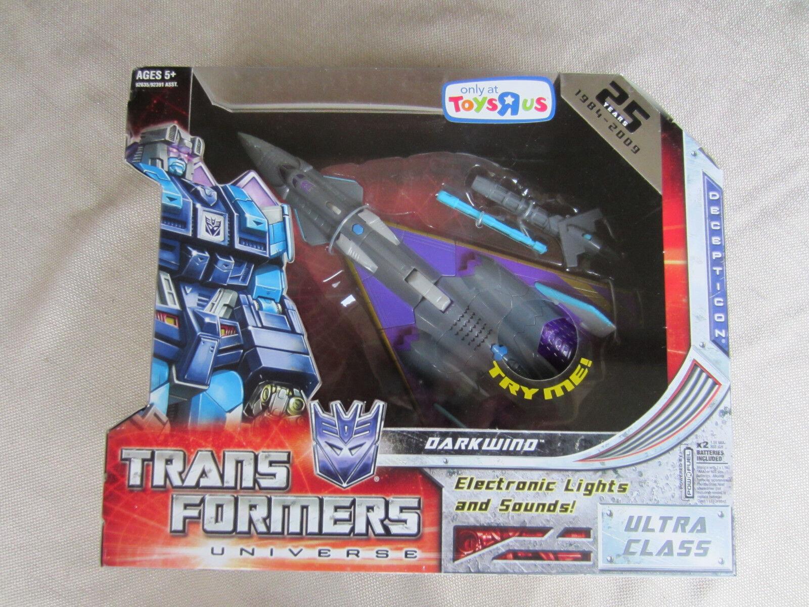 los últimos modelos Universo de Transformers Clase Ultra Darkwind 25TH aniversario T.R.U exclusivo exclusivo exclusivo Y En Caja Sellada  descuento de ventas