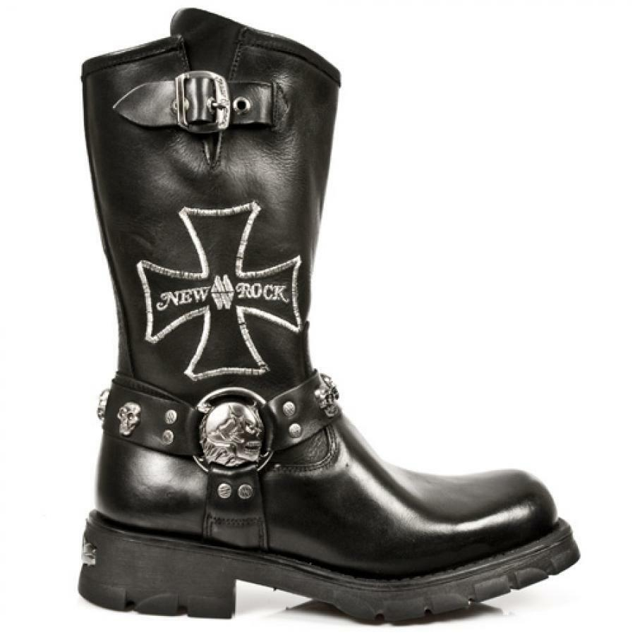 Footwear Guy NR Boot Biker Man Embroidered High NEW ROCK- M.7622-S1