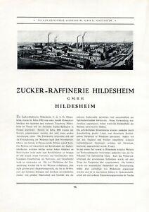 Zucker Raffinerie Hildesheim Xl Reklame 1926 Werbung Ubha8nqc-10114208-470167949