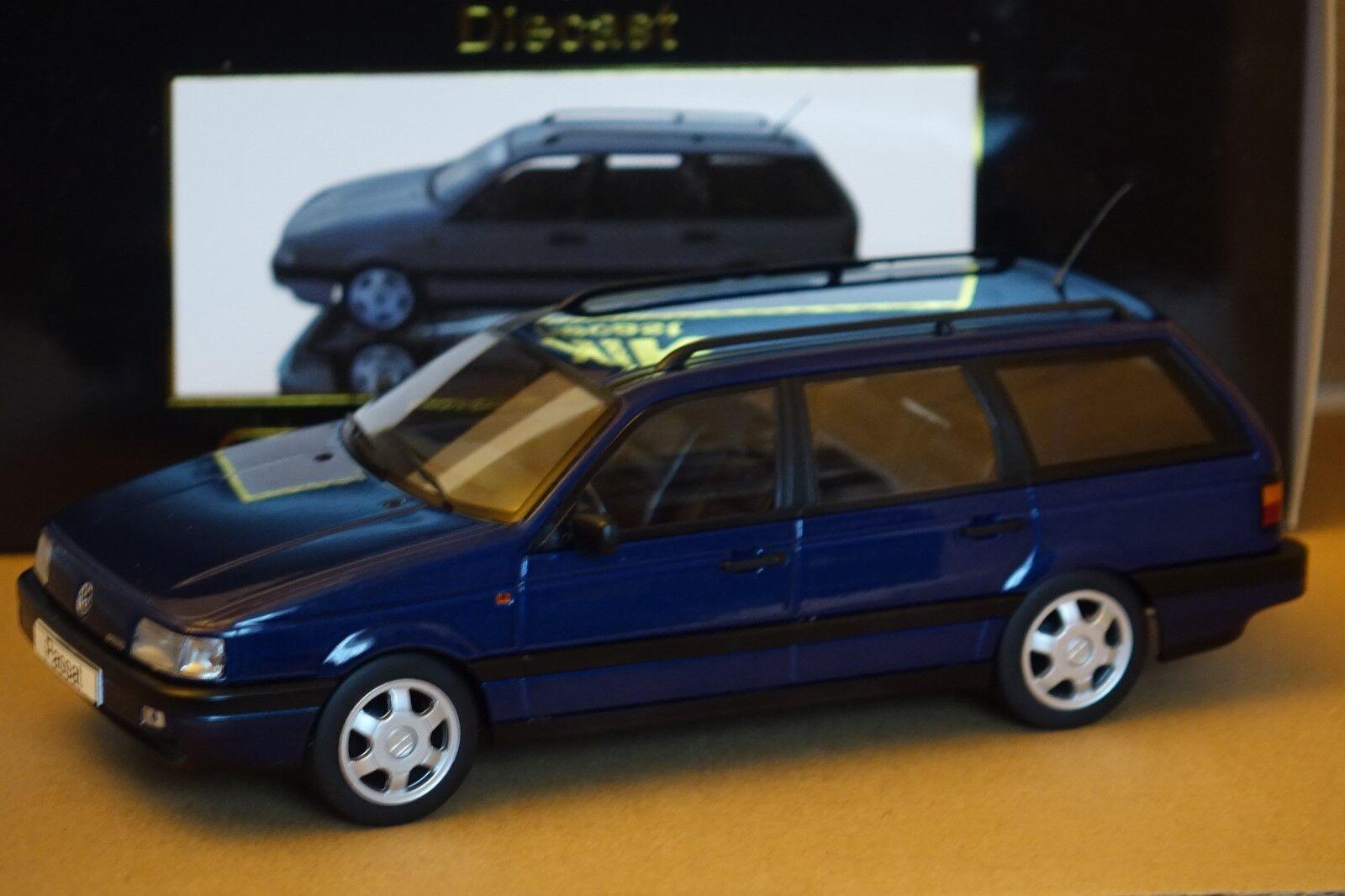 VW Passat Variant bleu métallisé 1 18 1 of 1000 KK-Scale NOUVEAU & NEUF dans sa boîte 180073