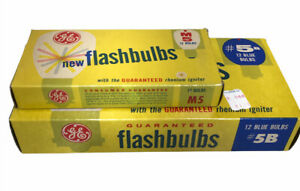 Lot of 2 Boxes GE General Electric 5B M5 Flashbulbs 24 bulbs total SAME DAY SHIP