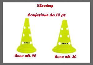 zeus cono forato calcio calcetto allenamento antiurto confezione da 10 pezzi