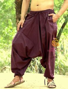 ebfdc41084b Image is loading Men-Women-Purple-Harem-Pants-Trousers-Aladdin-Yoga-