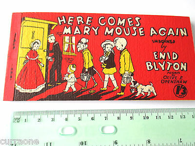 Enid Blyton HERE COMES MARY MOUSE AGAIN SC strip book Olive F Openshaw SCARCE