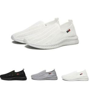 Mens-Outdoor-Leisure-Athletic-Hollow-Out-Slip-On-Sport-Sneakers-Shoes-Summer