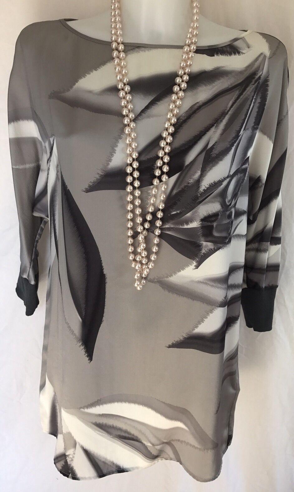 Marc Cain 100% Silk Ladies Print Top N4