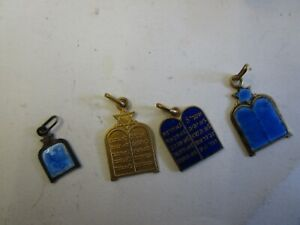 4 charmsTablets of the Covenant vintage israel jewish judaica
