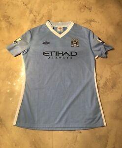 Women Manchester City Home 2014 NWT Trikot Maglia Maillot Soccer Football Jersey