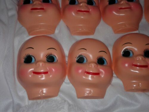 "12 Large 4.5/"" NEW Vintage Doll Smile Face Head Hallow Baby Open Eyes"