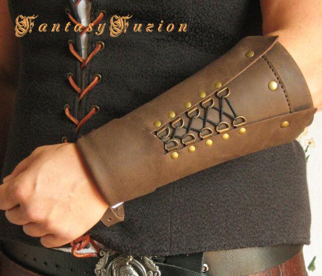 Medieval Renaissance Knight Assassin Cosplay Armor Leather SINGLE Bracer