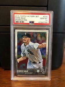2015-Topps-Sparkle-Foil-Chris-Sale-Baseball-Card-376-PSA-10-POP-2
