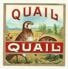 """""""Quail"""" Heavily Embossed Outer Cigar Box Label Jno.T. Stier & Son Louisville,Ky."""