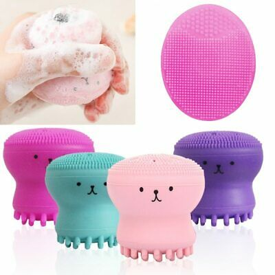Silicone Foam Face Cleansing Brush Pore Cleanser Exfoliator Scrub