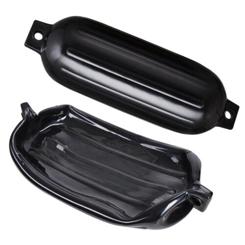 "4pcs Ribbed Boat Fender 8/""x27/"" Inflatable Bumper Dock Shield Protection Black"