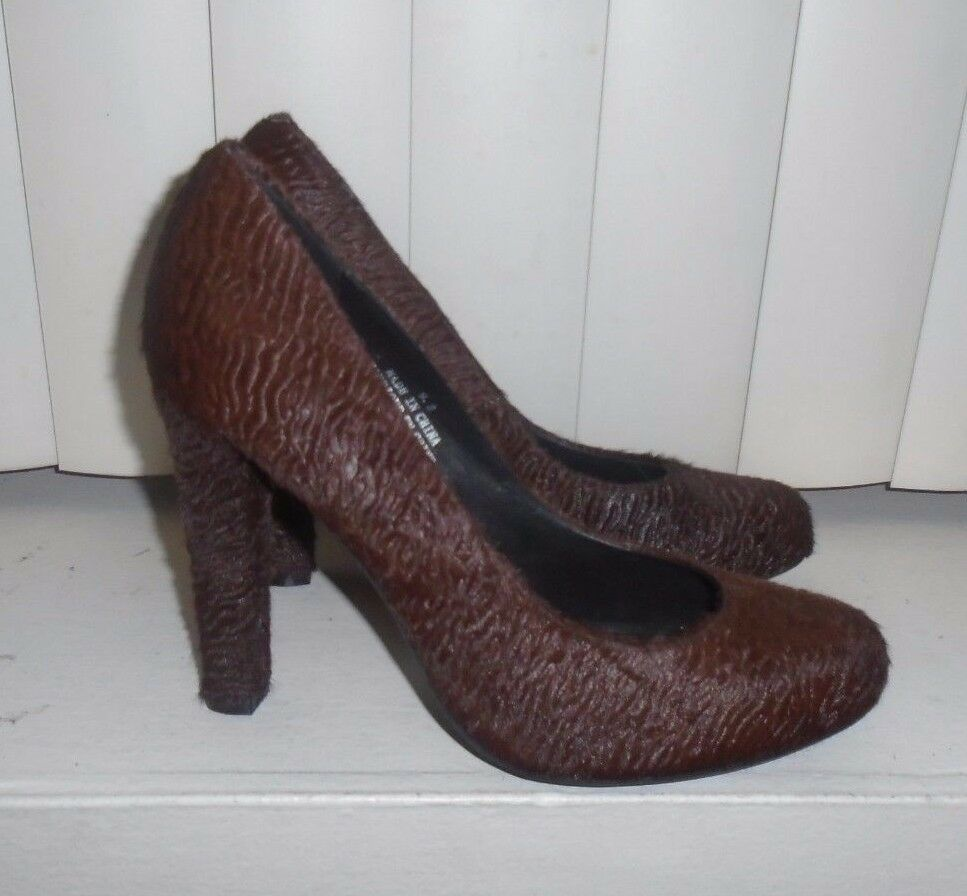 Jeffrey Campbell X Free People Brown Curly Calf Hair Valencia Pump S O  148 9.5