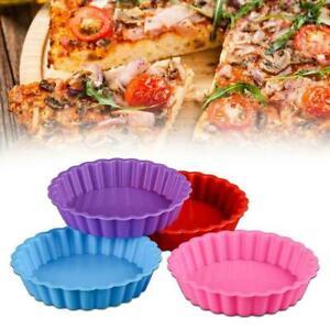 Silicone Cake Molds Round Bakeware Pizza Pan Non-stick Tray DIY Baking Cake Hot