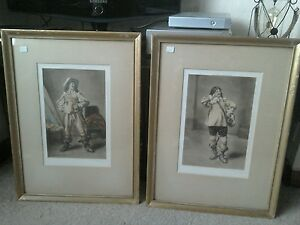 2 mezzotints of Meissonier039s Cavaliers signed in pencil by CFitzgerald - Cleckheaton, United Kingdom - 2 mezzotints of Meissonier039s Cavaliers signed in pencil by CFitzgerald - Cleckheaton, United Kingdom
