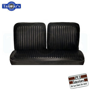 1973-73-Dart-Swinger-Scamp-Front-Bench-Seat-Covers-Upholstery-Black-PUI-New