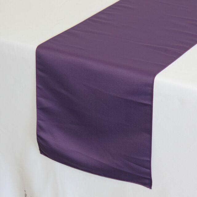 14 X 108 Inch Lu0027amour Satin Table Runner Purple