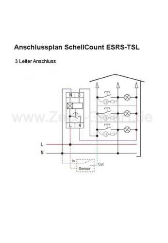 Treppenhausautomat Treppenlichtzeitschalter 230V 10A  3 oder 4 Leiterbeschaltung