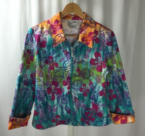 Ribkoff à brillant Veste zippée floral Sz motif 8 Joseph multicolore 6wpOqdp