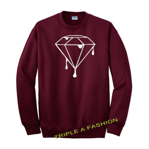 MELTING DIAMOND// MELTING LOGO// DRIPPING LOGO BURGUNDY UNISEX Sweatshirt  Jumper