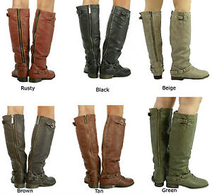 New Women's Breckelle's Outlaw 11 Buckle Knee high Riding Boots ...