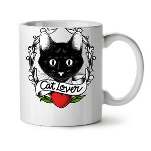 Cat Lover NEW White Tea Coffee Mug 11 oz | Wellcoda