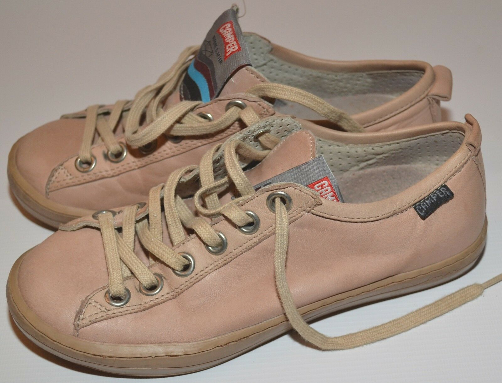 CAMPER LEATHER SAILING BLUSH SNEAKERS IMAR TRAINERS SAILING LEATHER SHOES EURO 35 / UK 3 USED 43f5c3